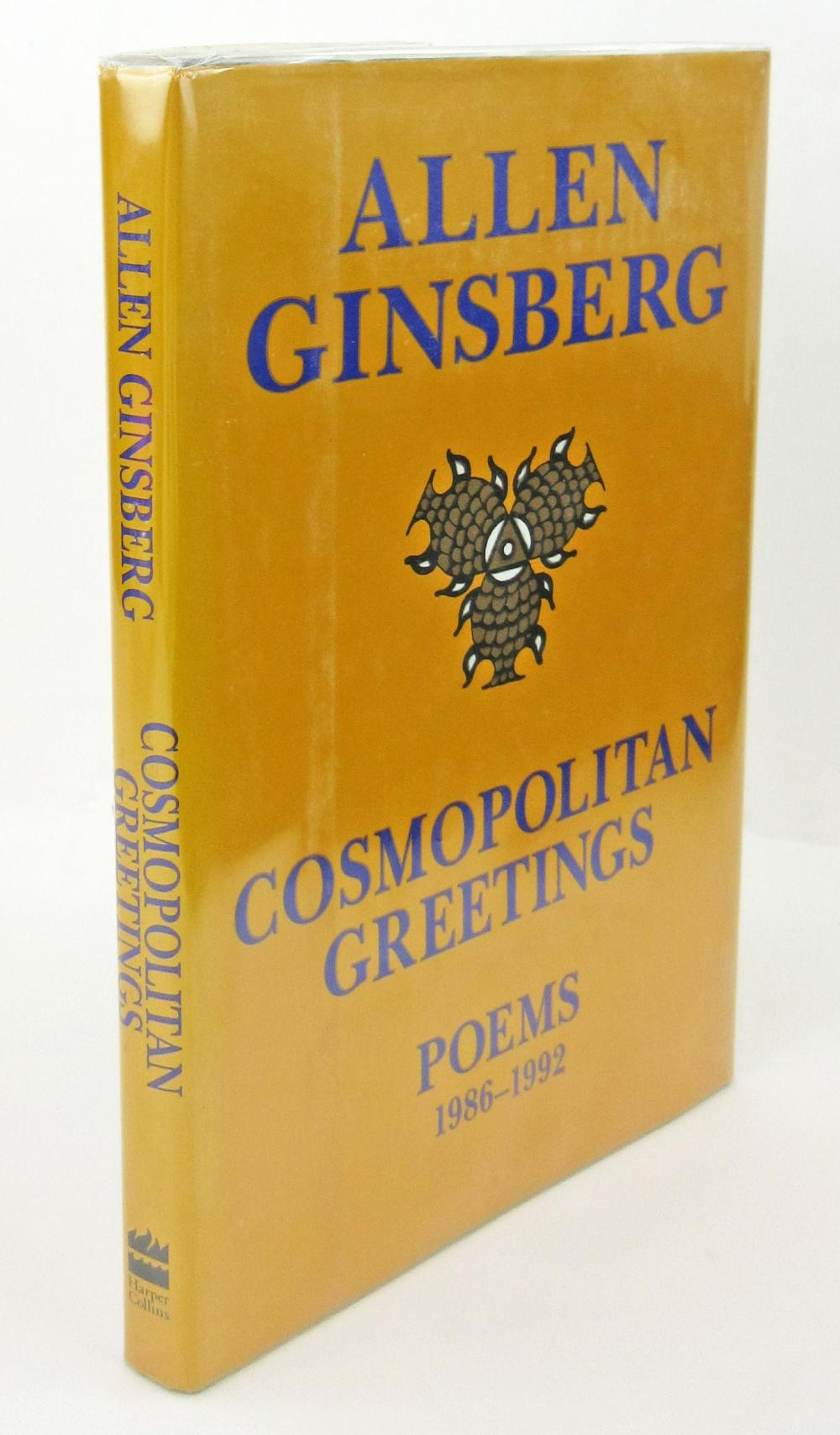 Cosmopolitan Greetings, Allen Ginsburg Signed 3X With A Drawing. First Printing