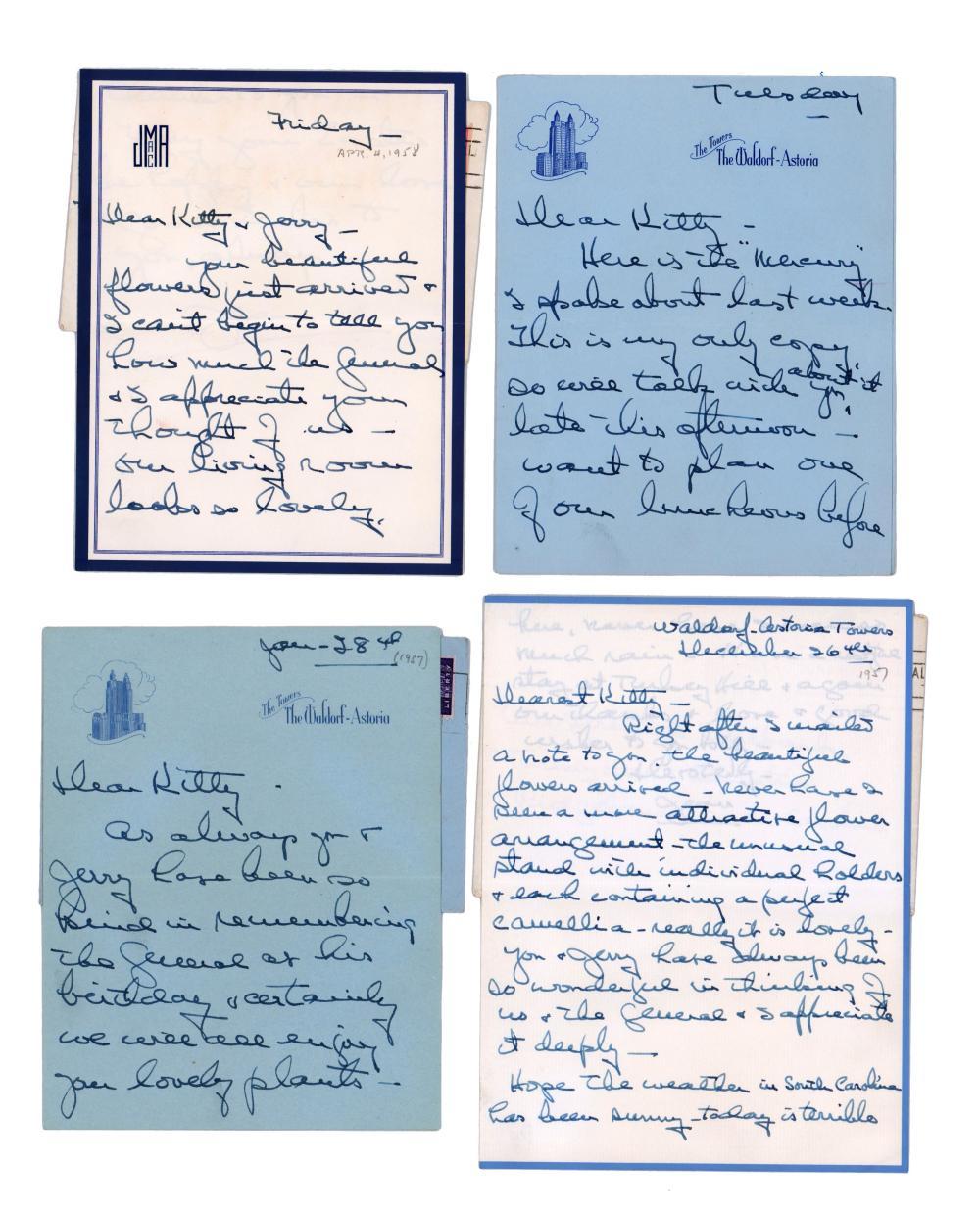 Douglas MacArthur TLS & Jean MacArthur Archive, 17 Total Letters