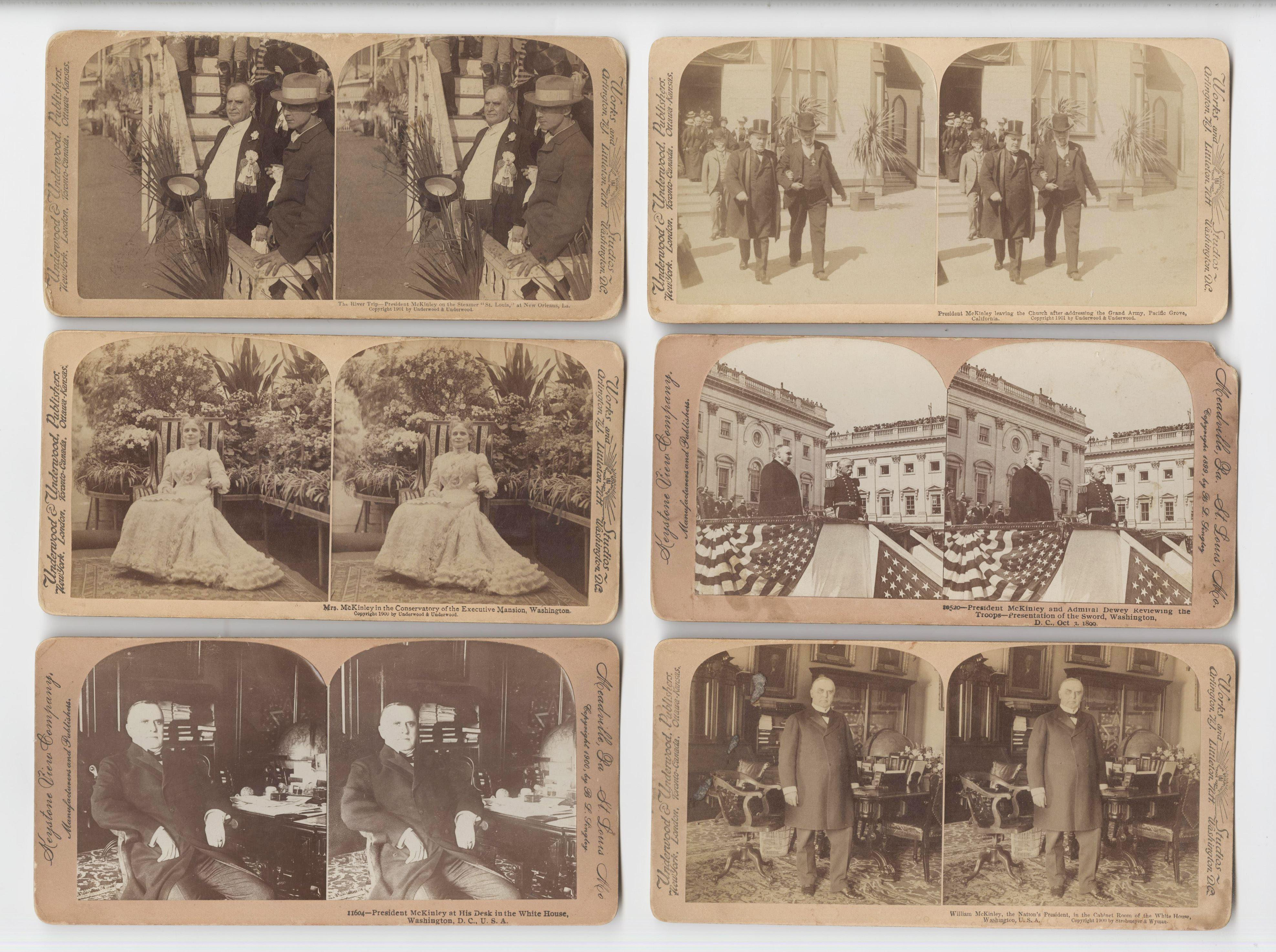 William McKinley Six Stereo View Photos