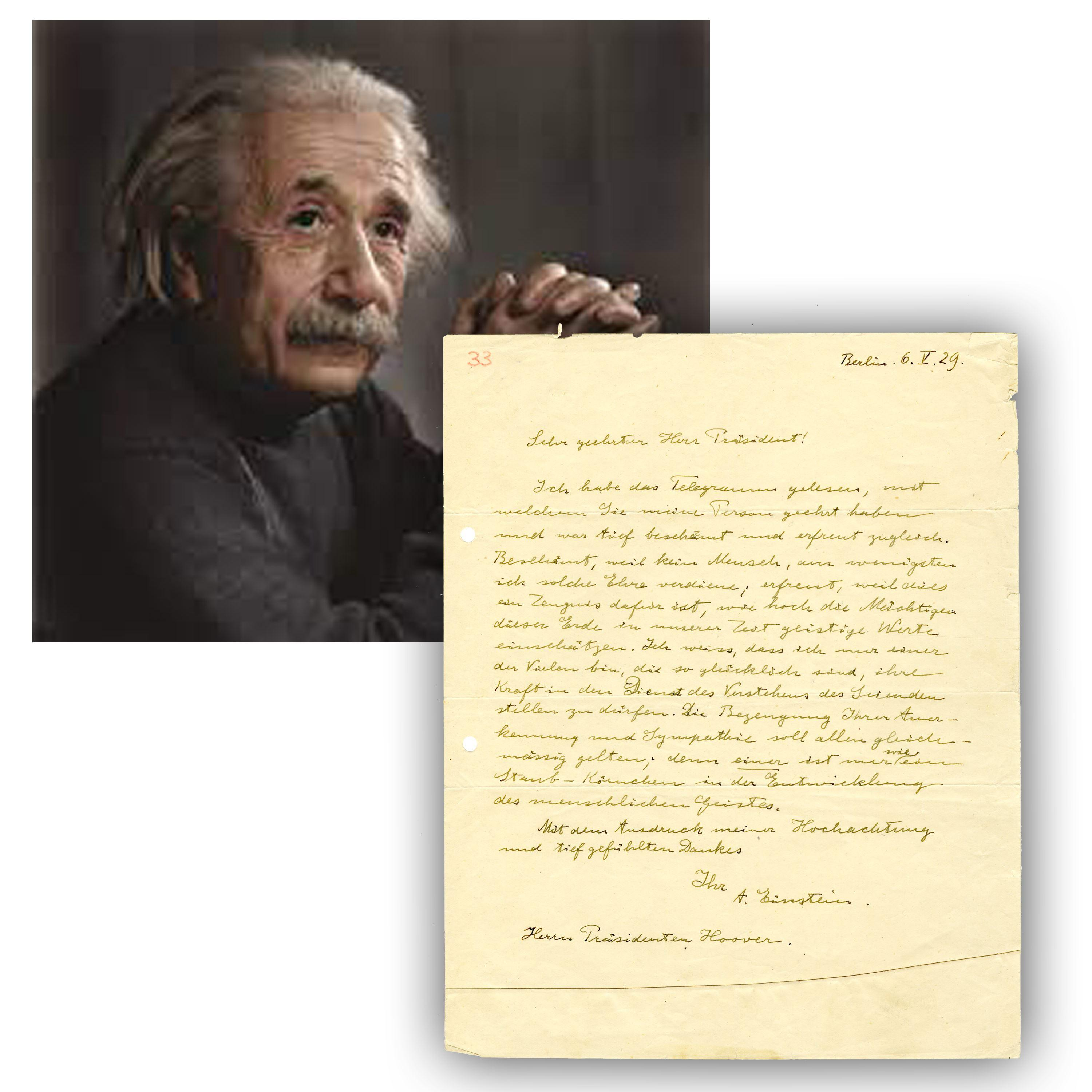 """World-Class Einstein ALS to U. S. President --1 of 2 Known -- Stating Humbly in Part: """"I am but a grain-of-dust in the development of the human spirit"""""""