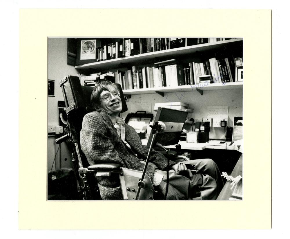 Stephen Hawking Signed 1970s Photograph, Extremely Rare if not Unique!