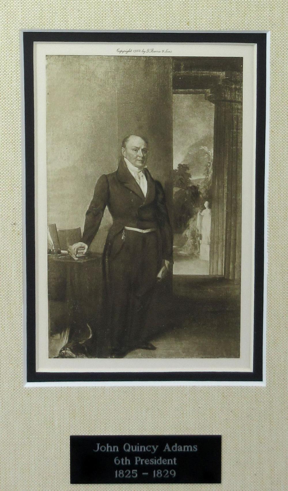 John Quincy Adams Signed Indiana Land Deed