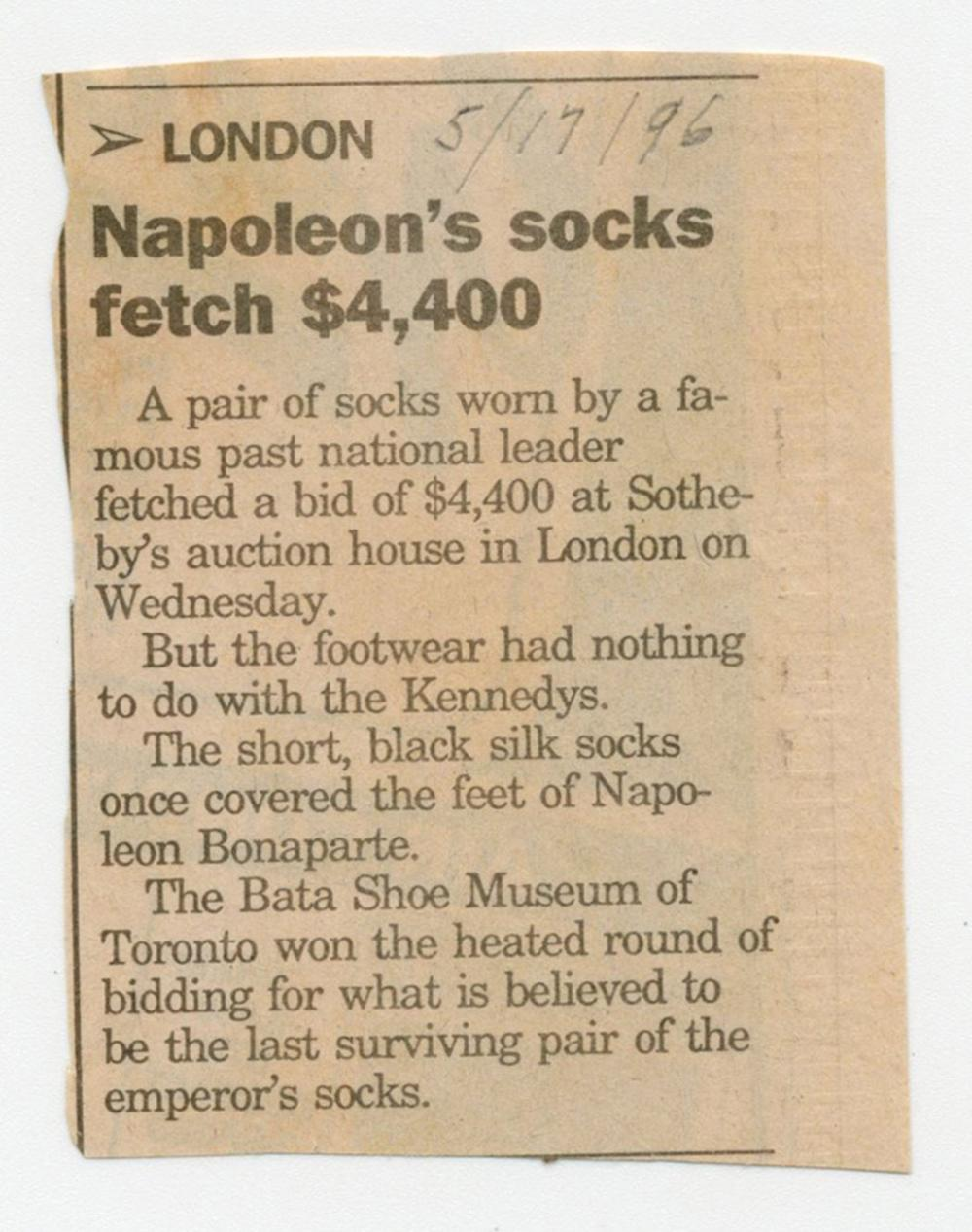 Napoleon Loses Russia, Then His Pants, On the Flight from Moscow, with Outstanding Early 20th C. Provenance! Ex-Nicholson Napoleon Collection