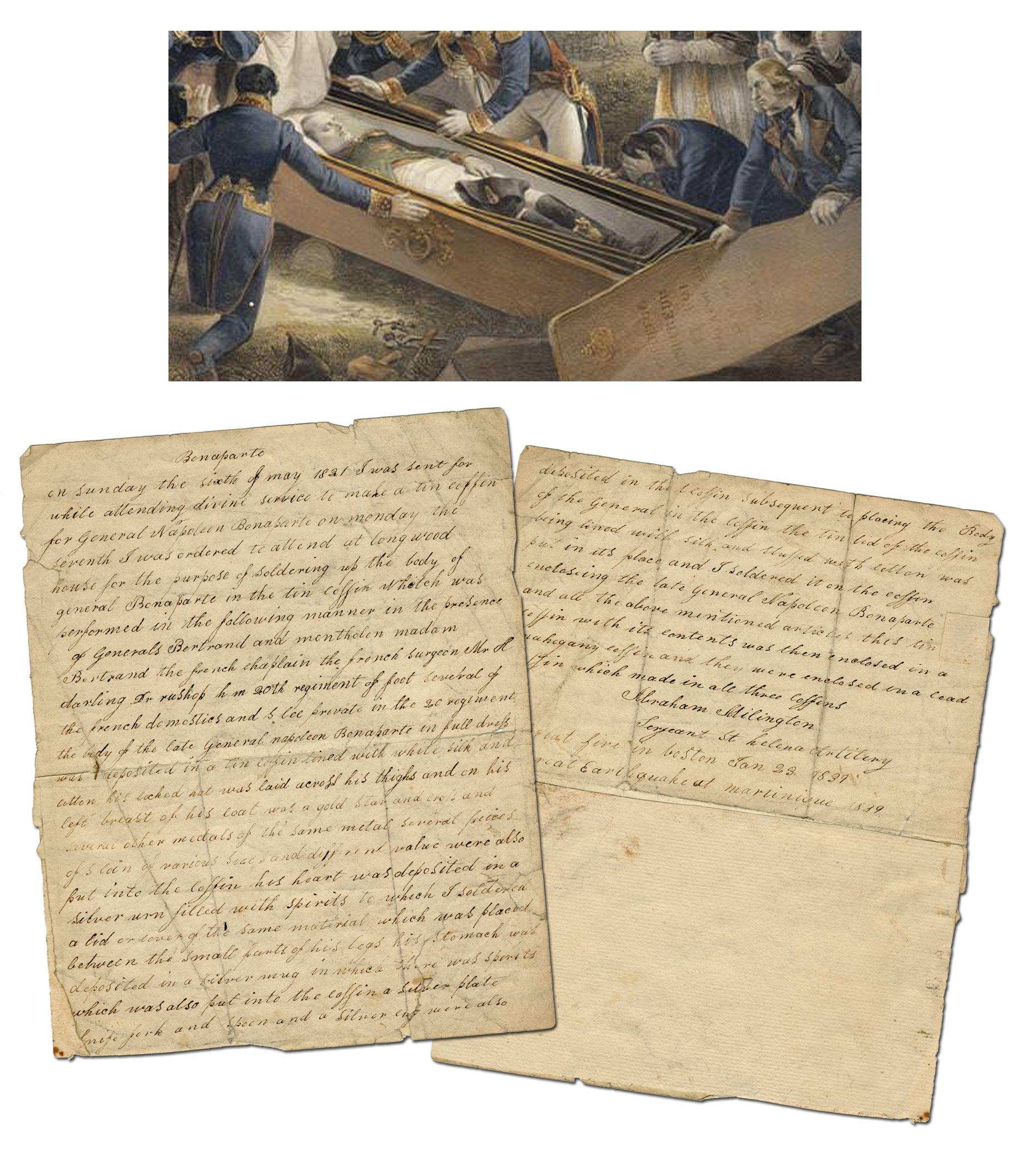 Napoleon's Coffin Maker: Eyewitness British Account of Sealing Up the Emperor's Body on St. Helena, Ex-Nicholson Napoleon Collection