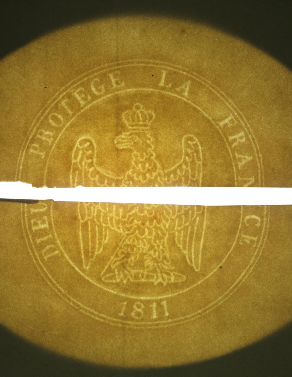 Napoleonic Era Watermarked Stationery, 2 Blank & Unused Pieces, Ex-Nicholson Napoleon Collection
