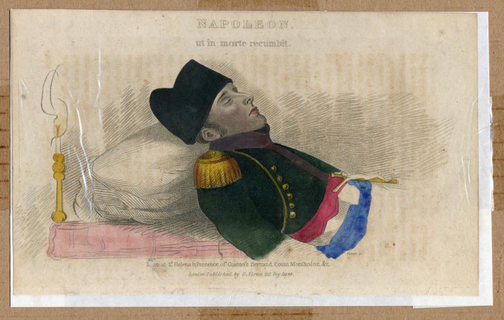 Napoleon's Death Bed: 2 Artistic Renderings, Ex-Nicholson Napoleon Collection