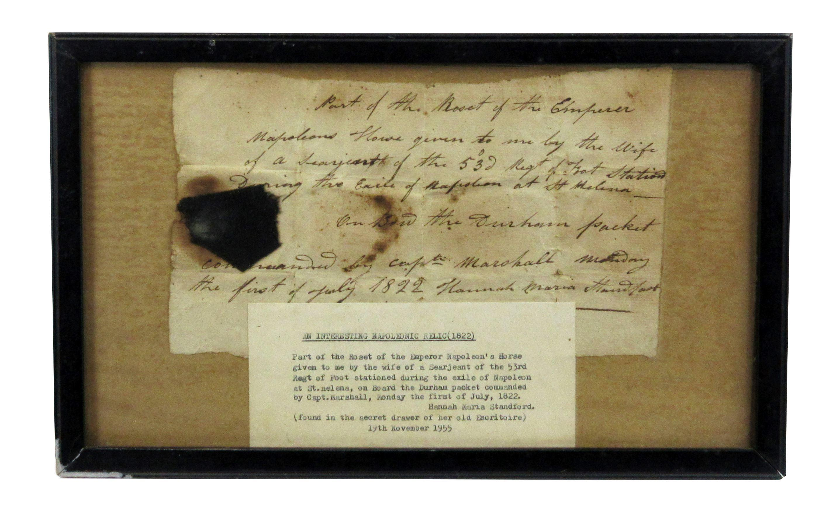 """Emperor Napoleon's Horse"" Rosette from St. Helena, Ex-Nicholson Napoleon Collection"