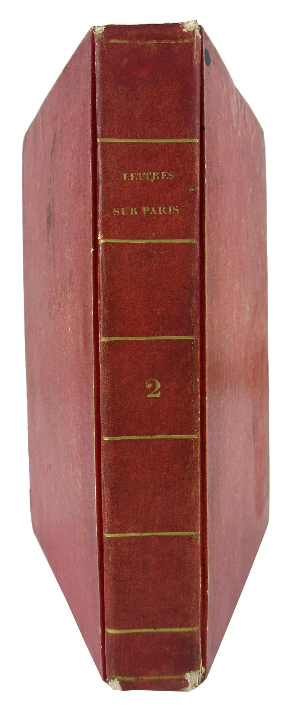 Napoleon's Personally Owned Book from St. Helena, Stamped & Inscribed by Librarian Mameluke Ali, Ex-Nicholson Napoleon Collection