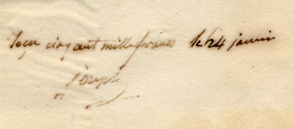 Napoleon & His Older Brother Joseph Sign Financial Document