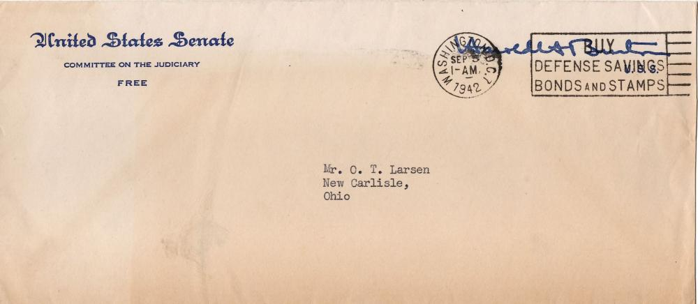 "Harold Burton ""Clear the Japs out of the Aleutian Islands"" WWII Letter"