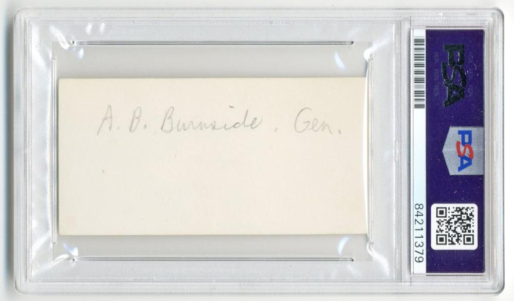 Ambrose Burnside Autograph, PSA/DNA Slabbed & Graded Mint 9!