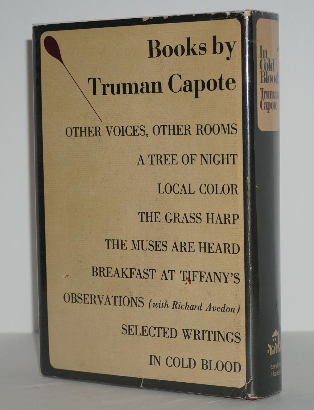 """Truman Capote Signed """"In Cold Blood"""", Inscribed """"This is perfect!"""""""