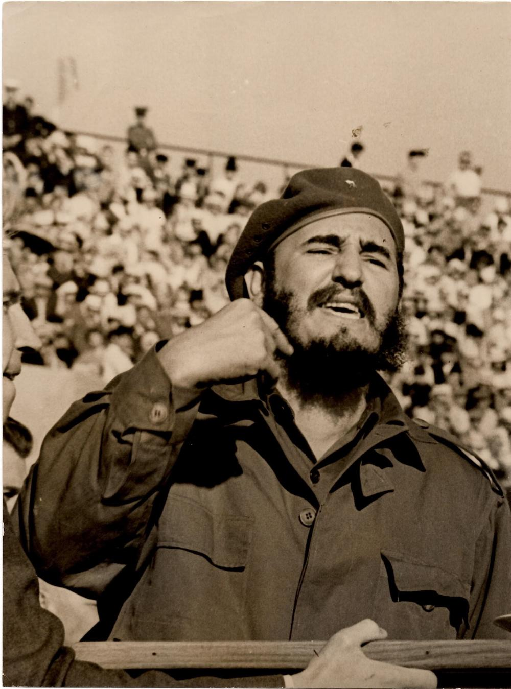 Three Vintage Photographs of the Cuban Revolutionary Fidel Castro