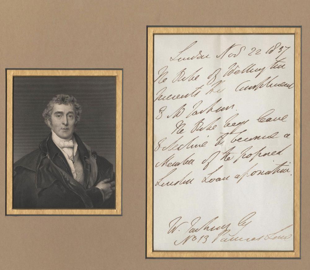 Duke of Wellington Superb Third Person Autographed Letter Signed