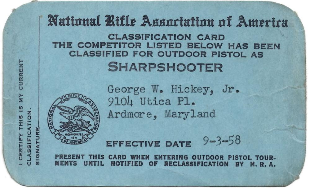 JFK's Accidental Killer? George W. Hickey, Jr.'s NRA Card