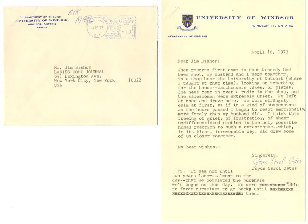 Three Signed Accounts of John F. Kennedy's Assassination