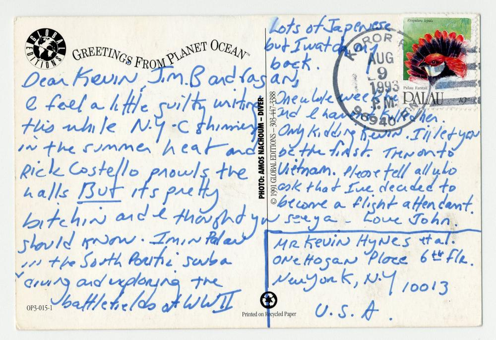 John F. Kennedy, Jr. ALS Written During South Pacific Vacation Alluding to JFK's PT-109 Shipwreck