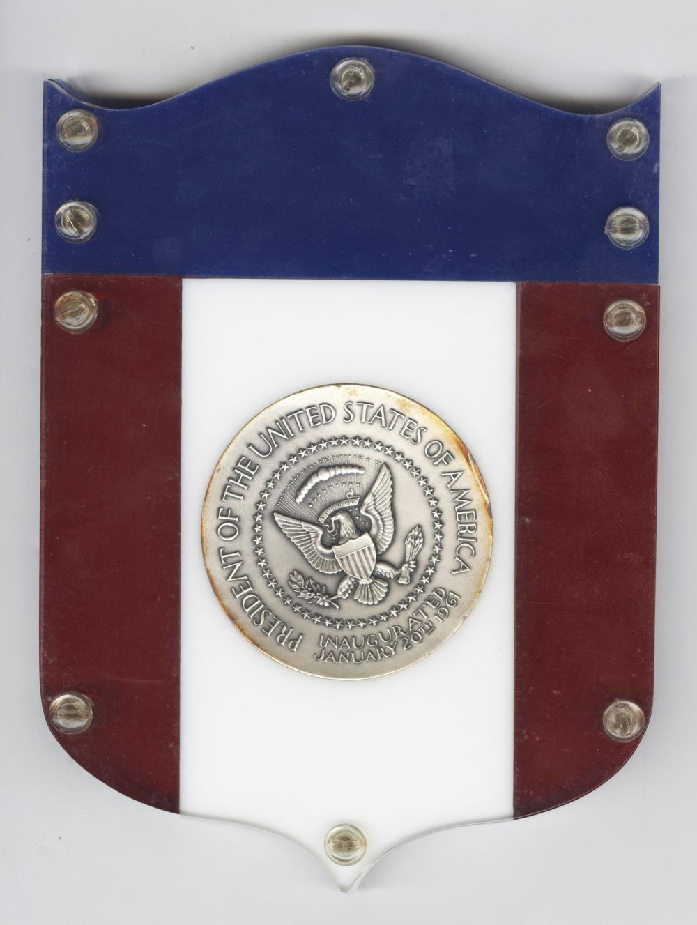 President Kennedy Official 1961 Inaugural Medal Cast in .999 pure Silver