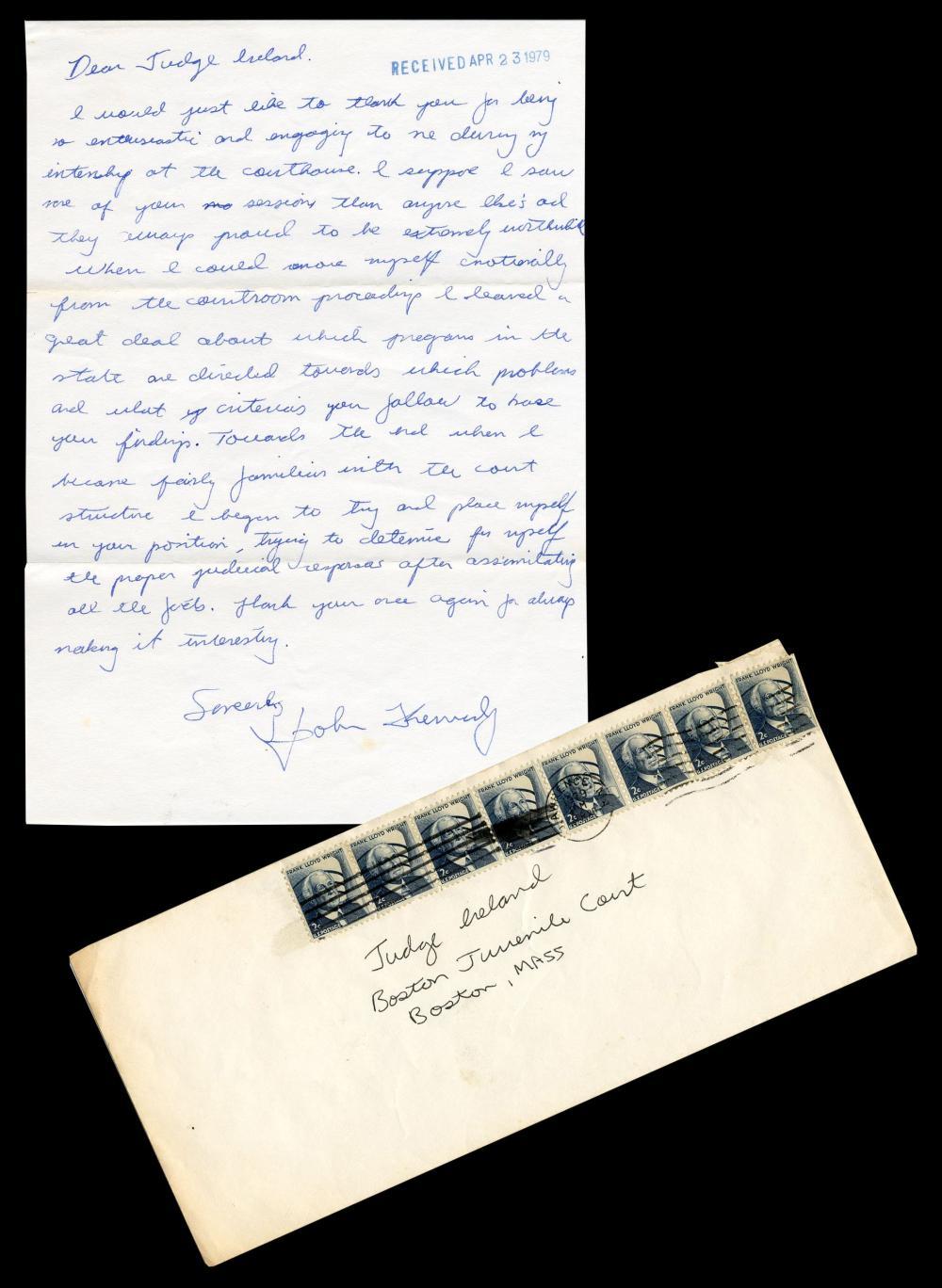 John F. Kennedy, Jr. ALS as 18-Year-Old Legal Intern