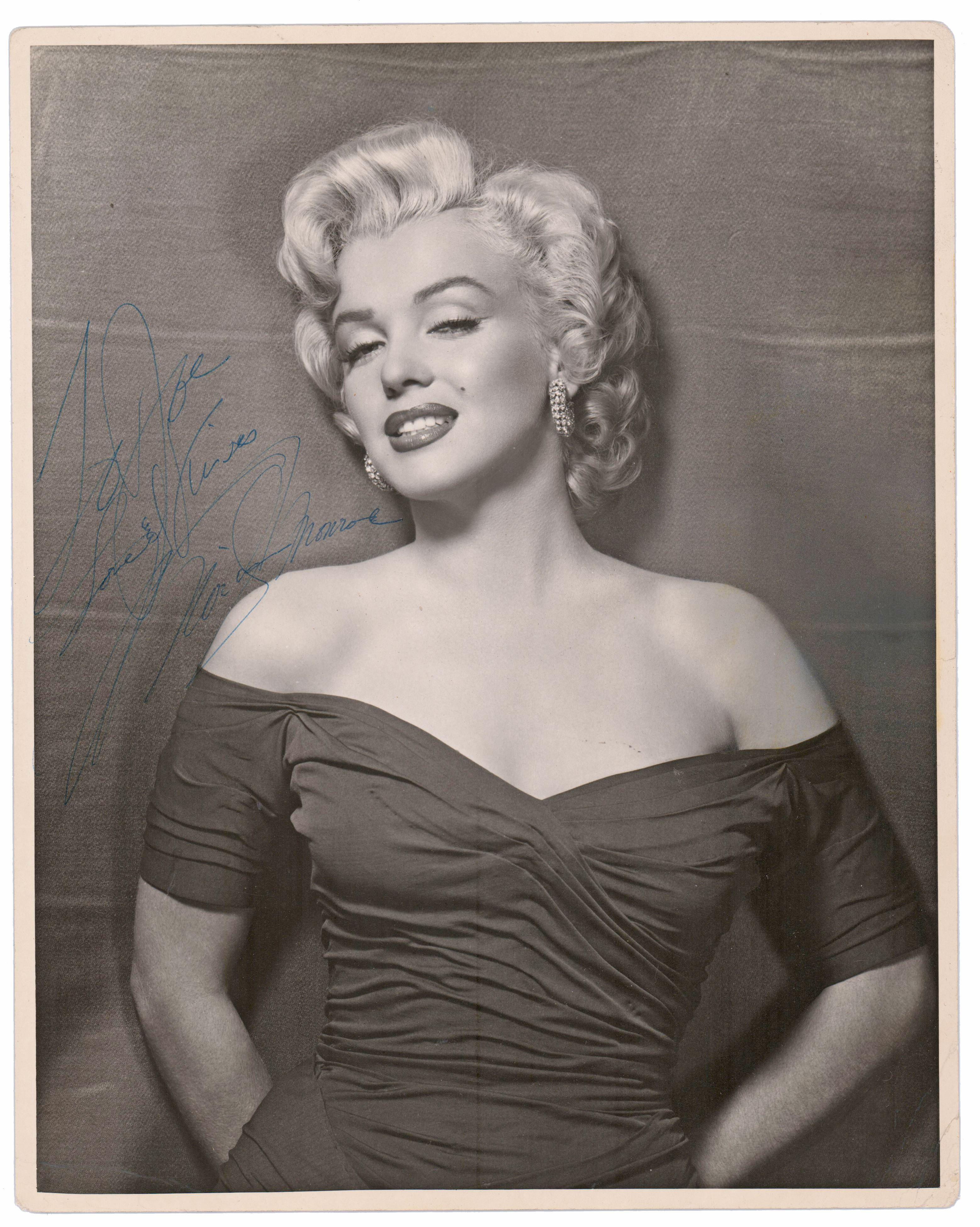 """Marilyn Monroe Signed & Inscribed Portrait """"To Joe ..."""" -- Could it be DiMaggio? Superb!"""
