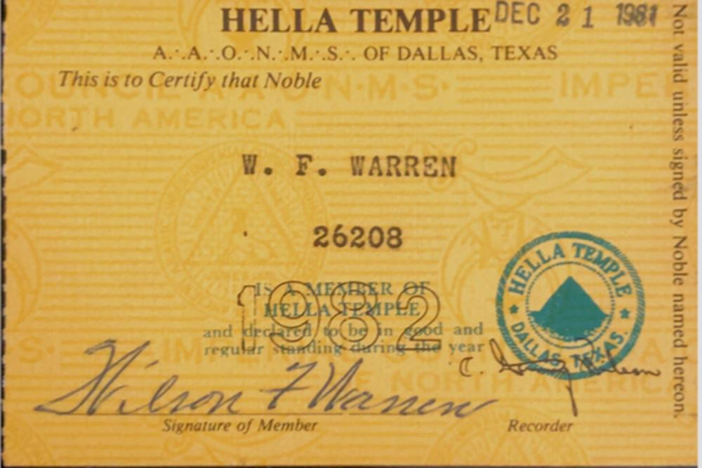 Lee Harvey Oswald's Booking Officer, Sgt. Wilson Warren, Booking Items