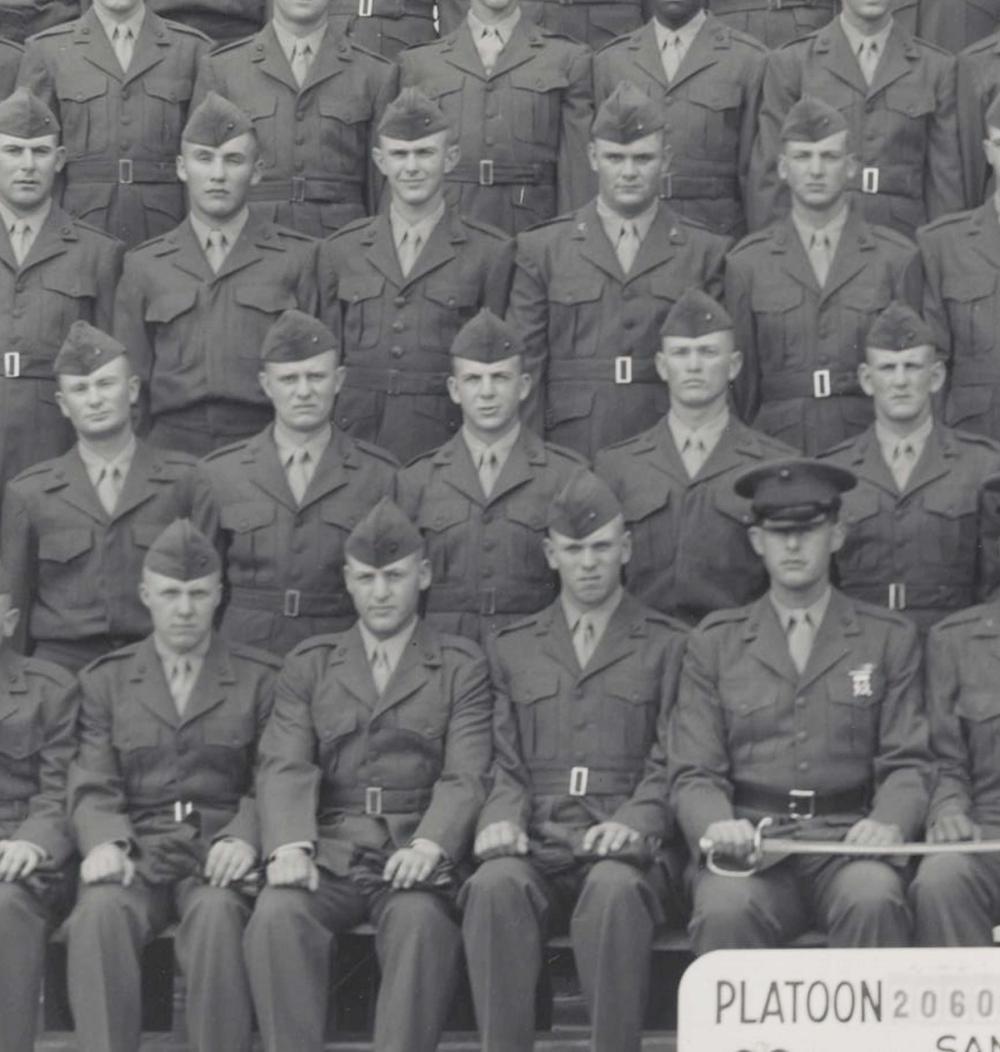 Lee Harvey Oswald, Sharpshooter Marine, Original Rare Platoon Photo