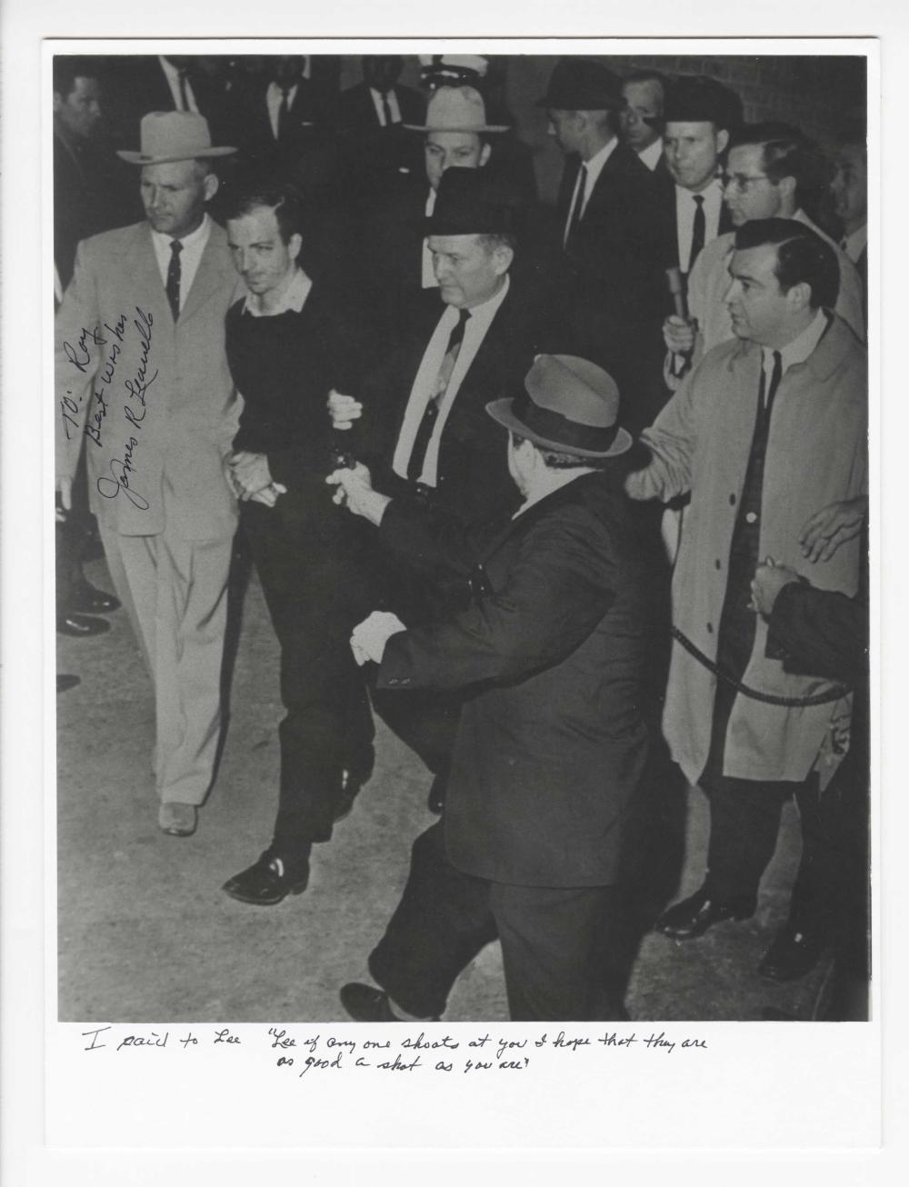"""Oswald Photo Signed, """"If Anyone Shoots at You I Hope They Are as Good a Shot as You Are"""""""