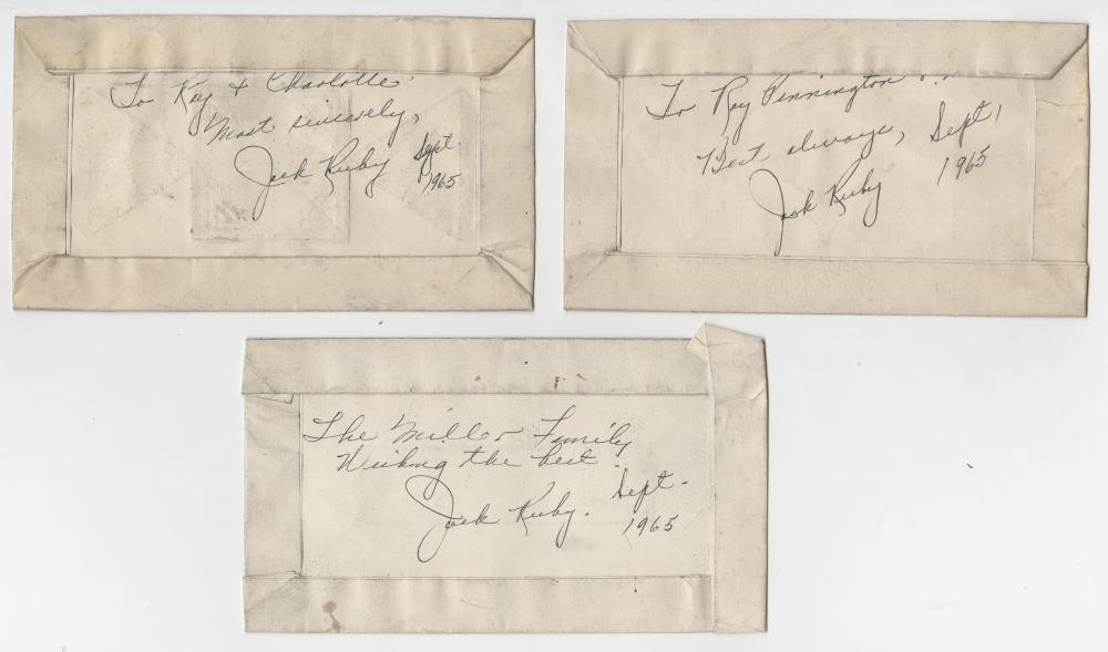 Jack Ruby Signed Jailhouse Drawings, 6 Pieces
