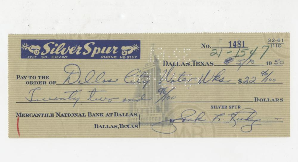 Superb Jack Ruby Signed Check & Photo at Book Depository