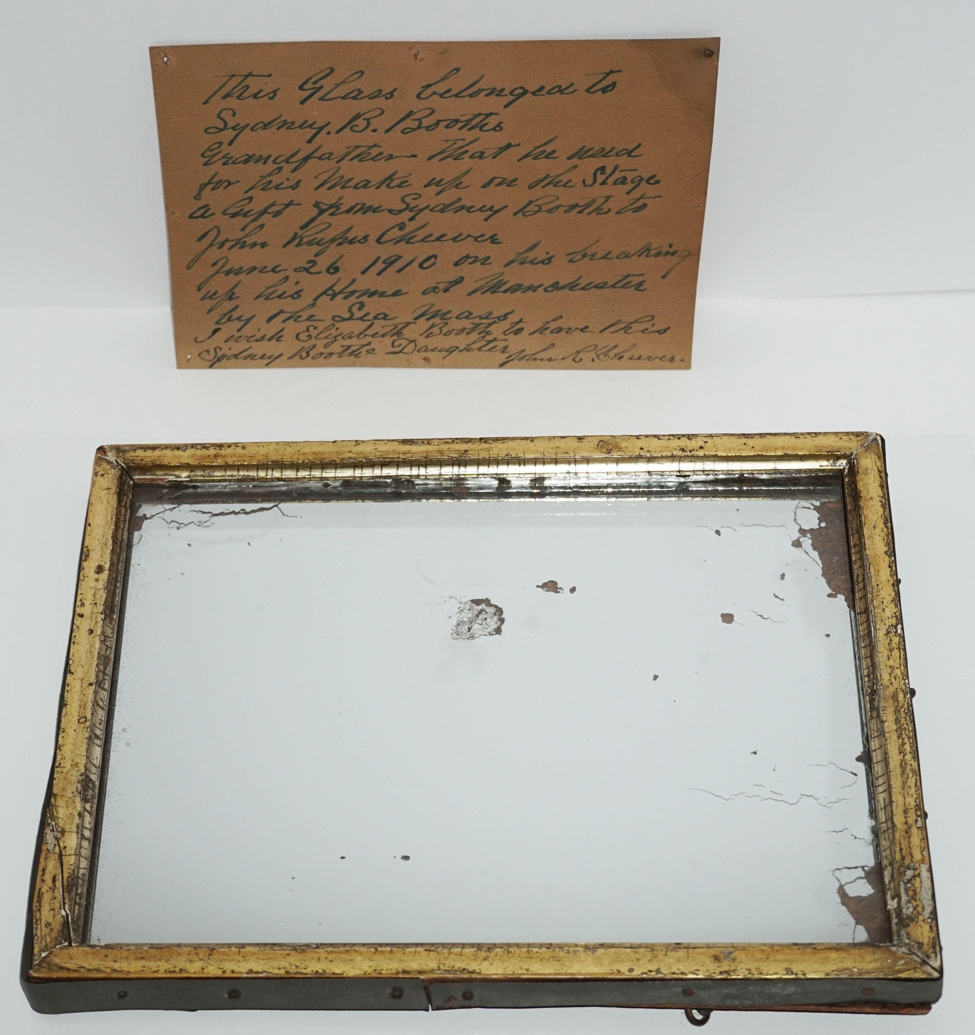 John Wilkes Booth Family Owned Mirror, Showing the Reflection of an Assassin? Ex-Nicholson Collection