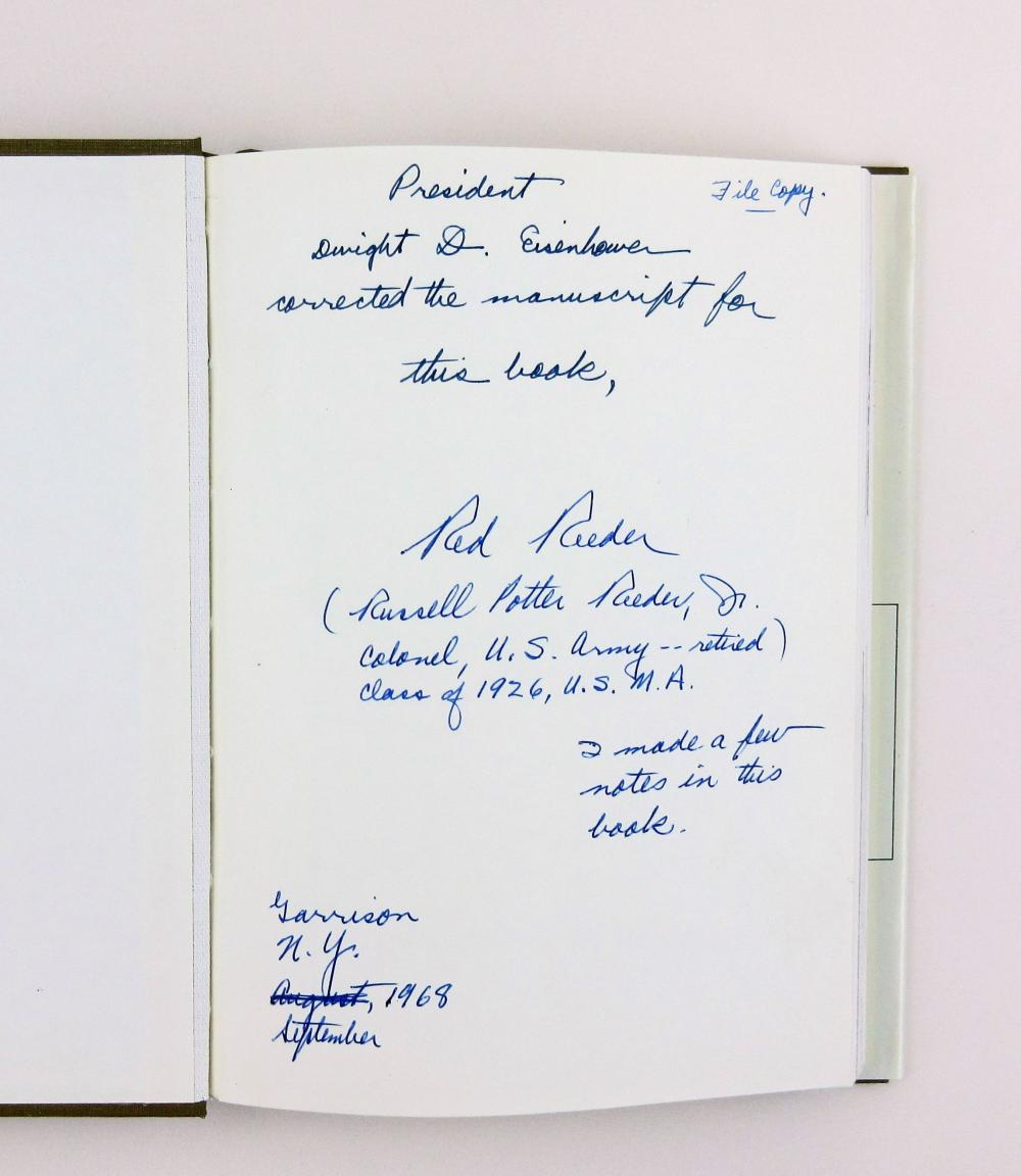 """Eisenhower 1150 handwritten Words on Biography: """"outline plan for defeating Germany"""" Great WWII Content! with Related Items"""