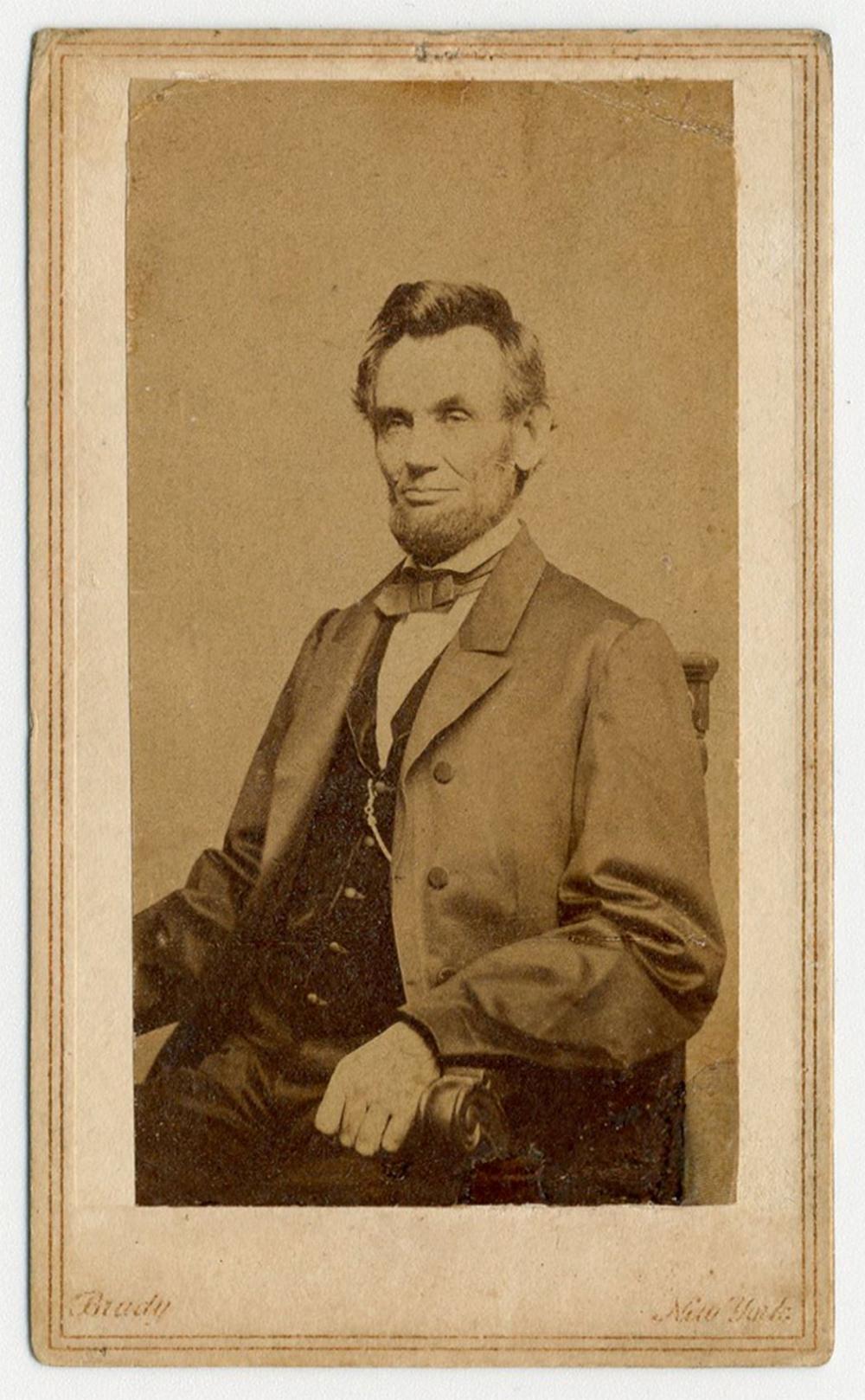 Abraham Lincoln CDV by Mathew Brady