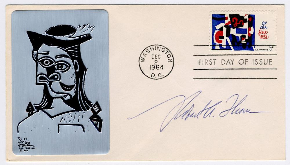 12 FDCs Signed by Noted 20th C. Artists, Including Peter Berg