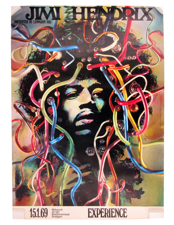 Much Desired Jimi Hendrix 1969 German Tour Poster