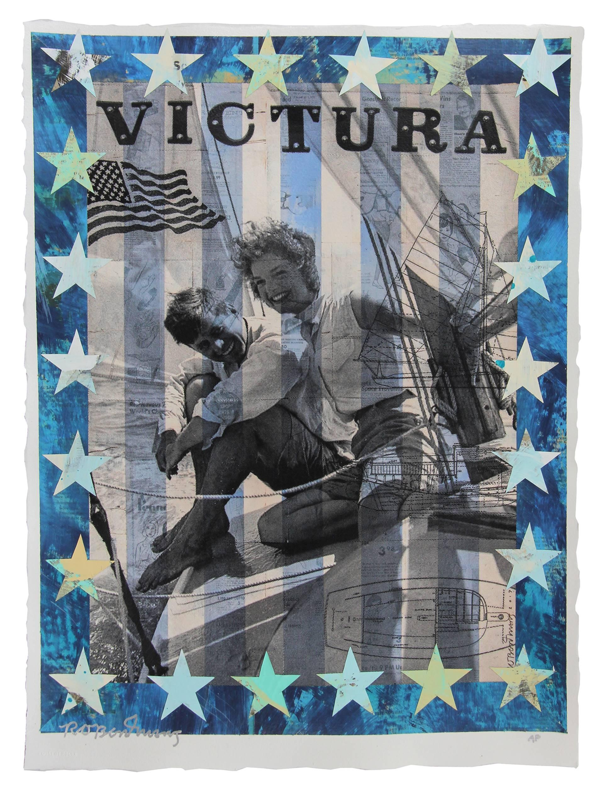 """""""Victura"""", Hand-Embellished Artist Proof 1 of 1 Print by Contemporary Fine Artist Robert Mars"""