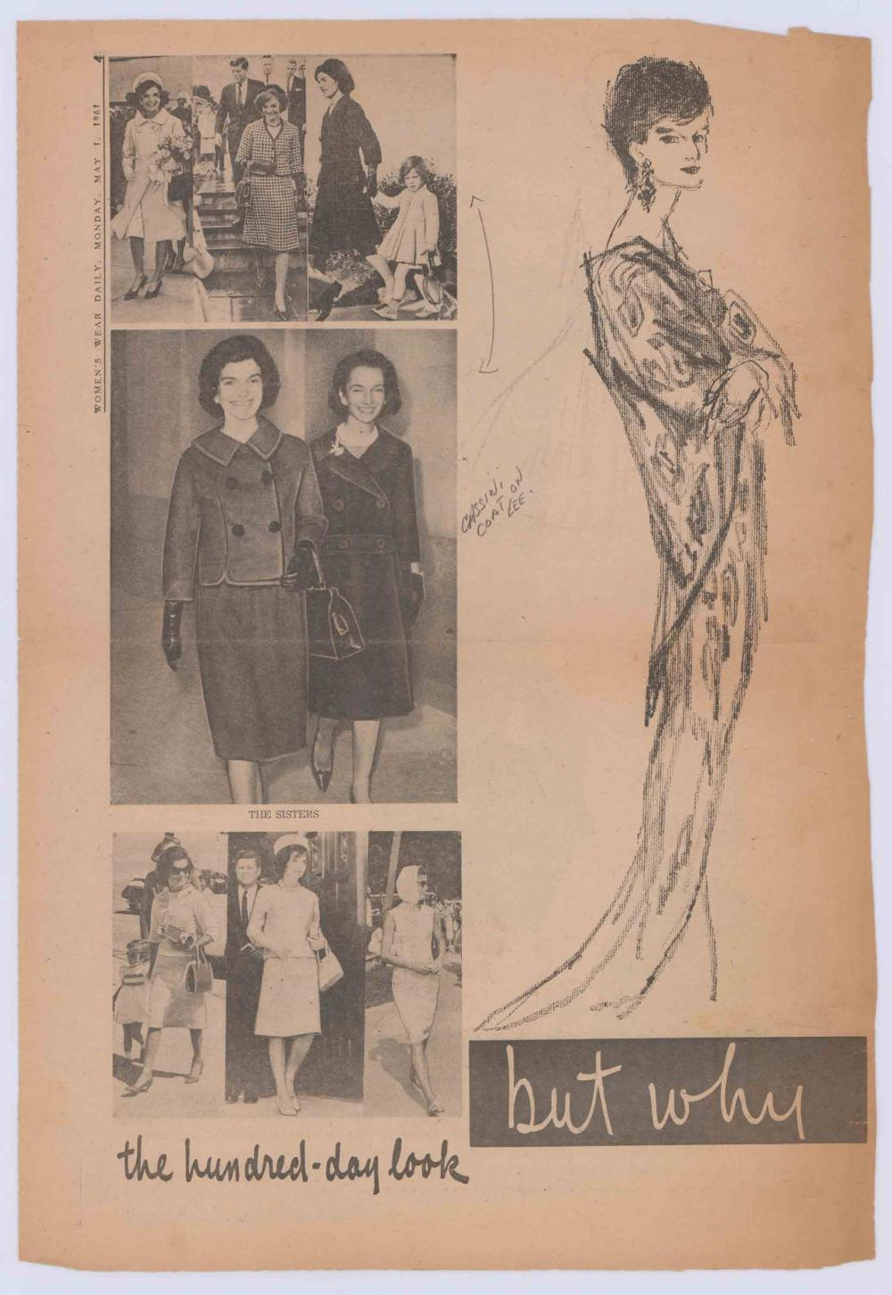 Jacqueline Kennedy Archive, Featuring Oleg Cassini Owned Dress Originally Designed for First Lady, Vintage Couture Sketches, and More!