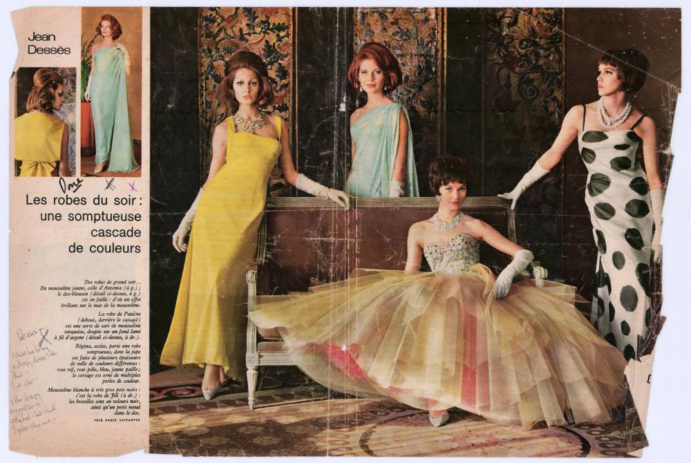 Jackie Kennedy's Annotated French Fashion Magazine Tear-outs, to Inspire Future Oleg Cassini Designs