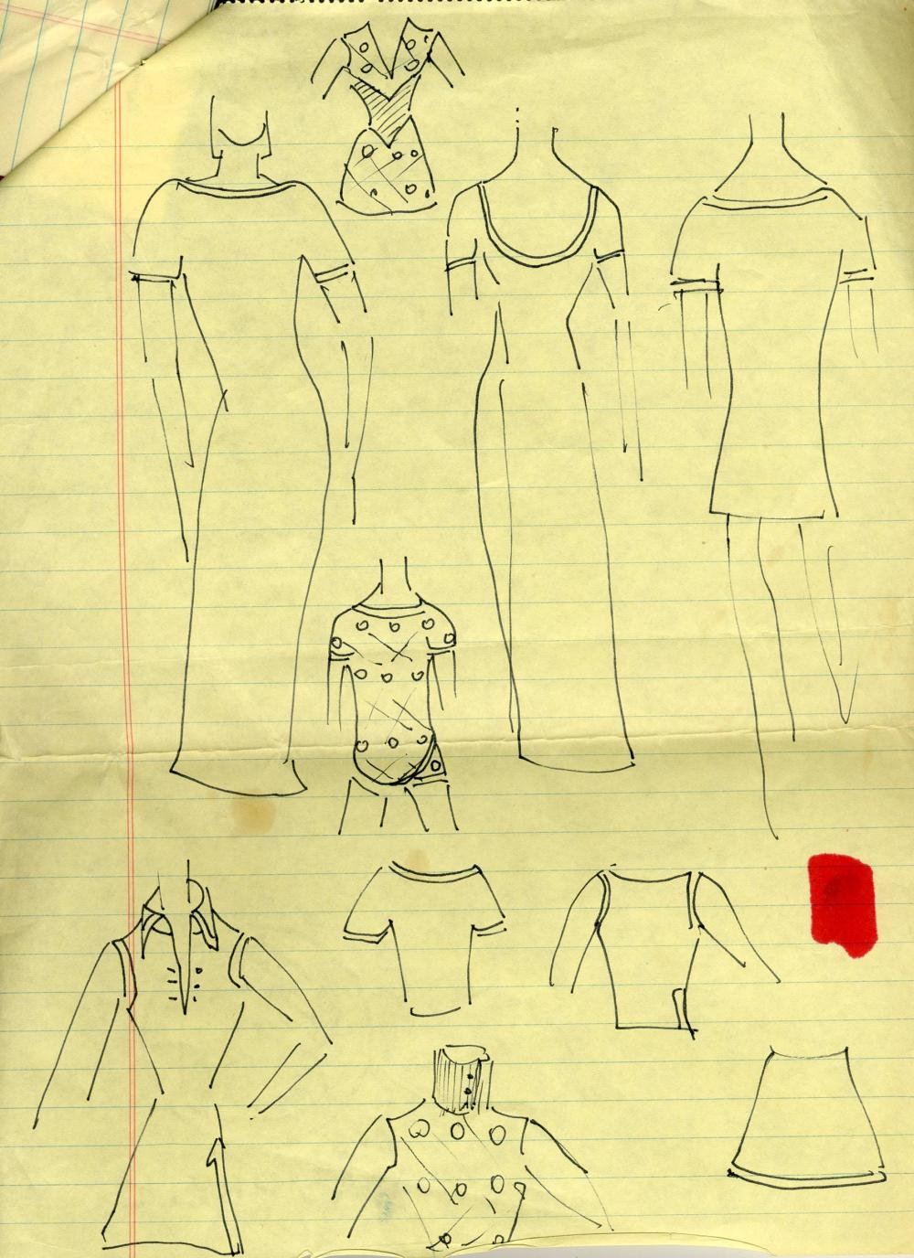 Oleg Cassini, Jackie Kennedy's Favorite Fashion Designer, Handwritten Notes & Sketches for the