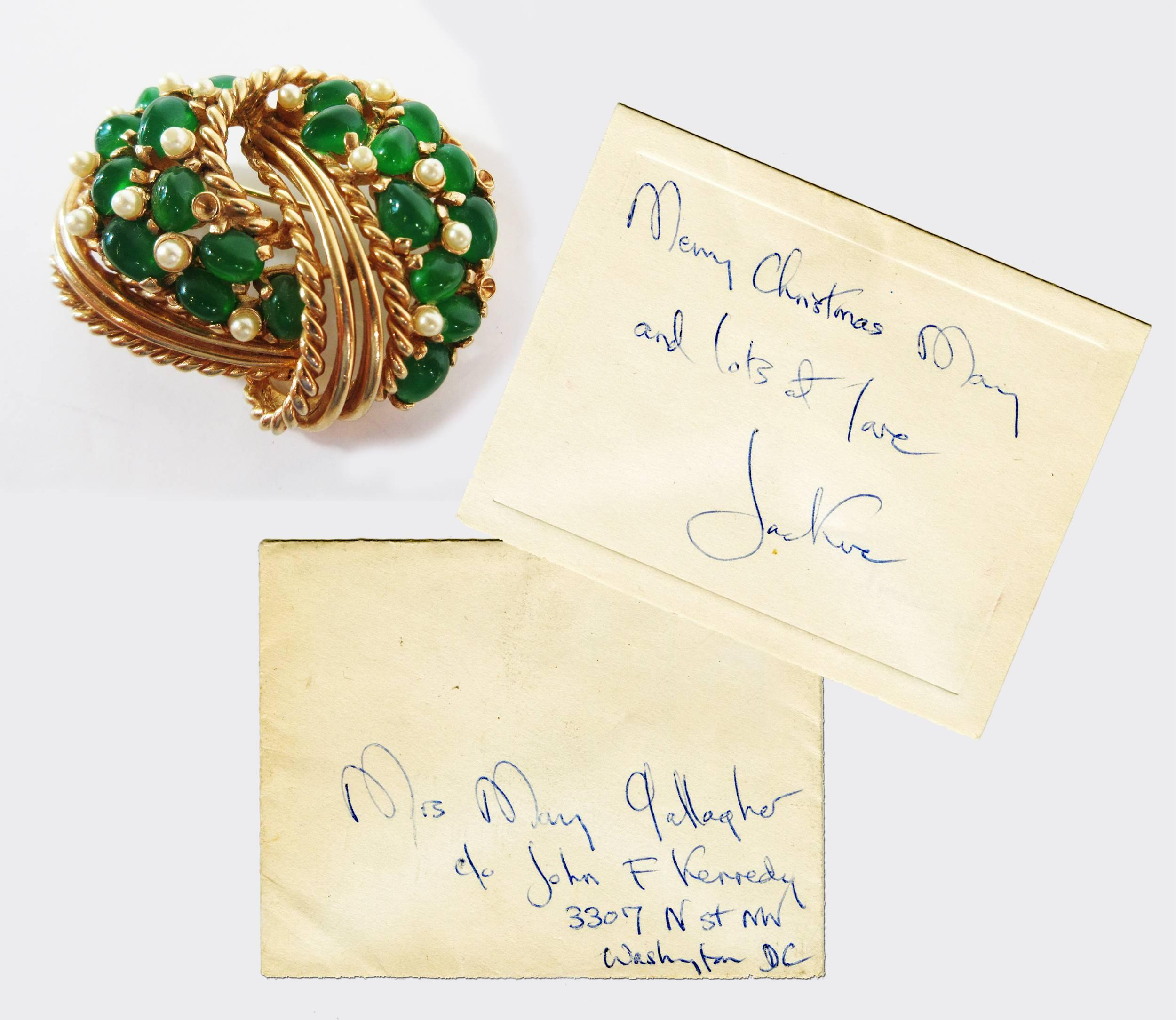 Jackie Kennedy Owned Boucher Large Exquisite Brooch