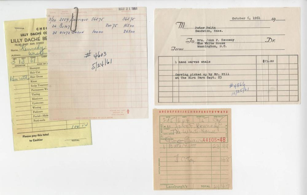 Jackie Kennedy Receipts From Era of Inauguration