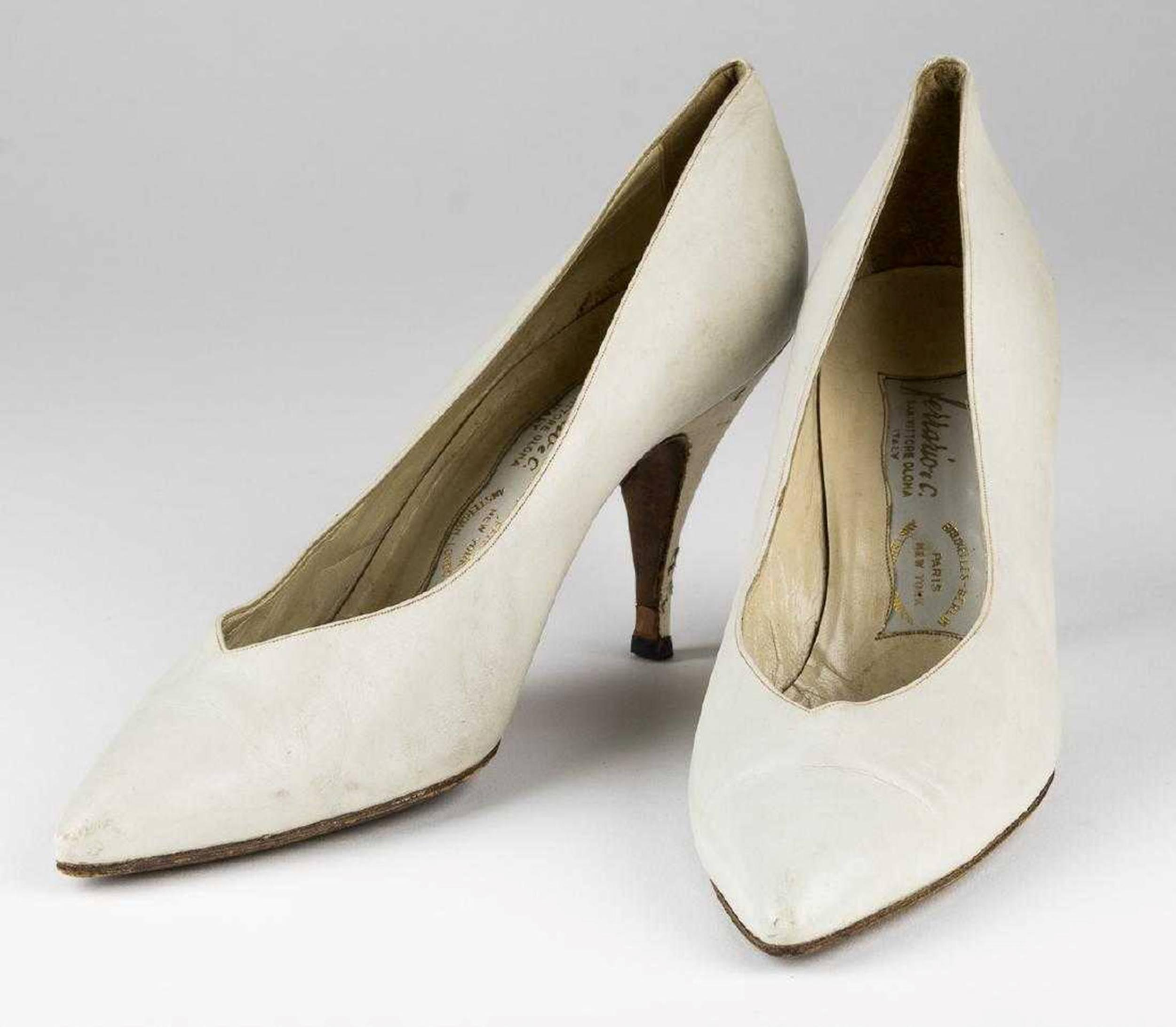 Jacqueline Kennedy's Personally Owned Hand Made Designer Leather Pumps