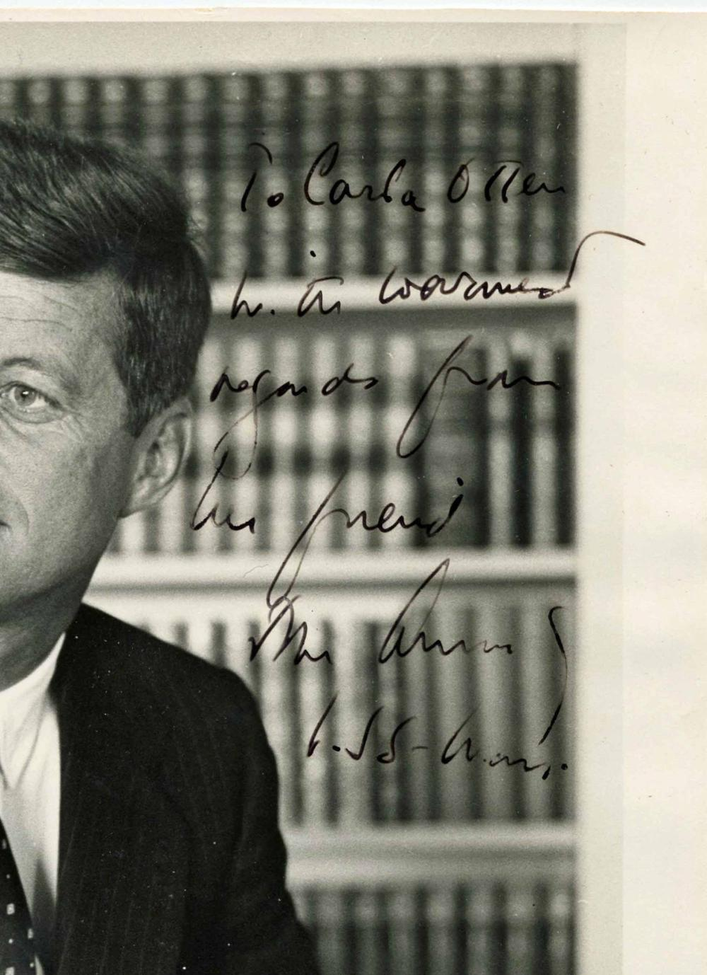 JFK Amazing Inscribed and Signed Photo of the Highest Quality, by Jacques Lowe