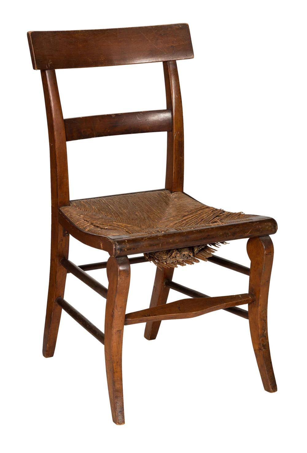 """Jackie & JFK Family Owned And Used at the White House Rustic Farm Chair from the Sotheby's """"Property from Kennedy Family Homes"""" Auction Impeccable Provenance"""