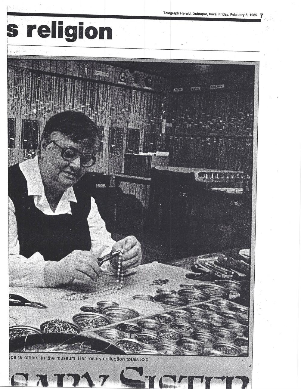 John F. Kennedy, the First Catholic President: Personally-Owned Rosary Beads. Fantastic Provenance!
