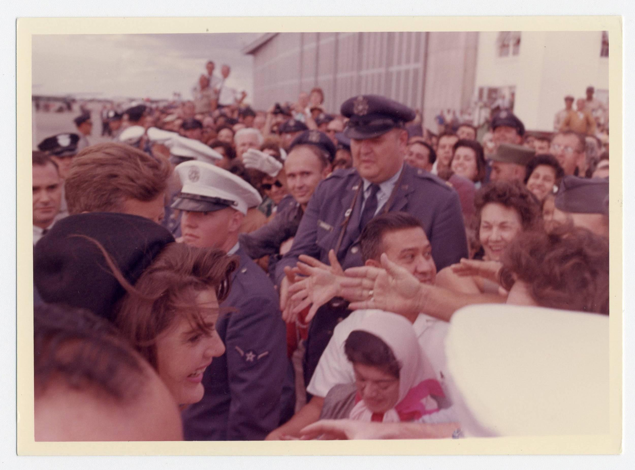John F. Kennedy & Jackie Kennedy at Houston International Airport the Day Before the Assassination, Vintage Photo from Cecil Stoughton's Personal Collection