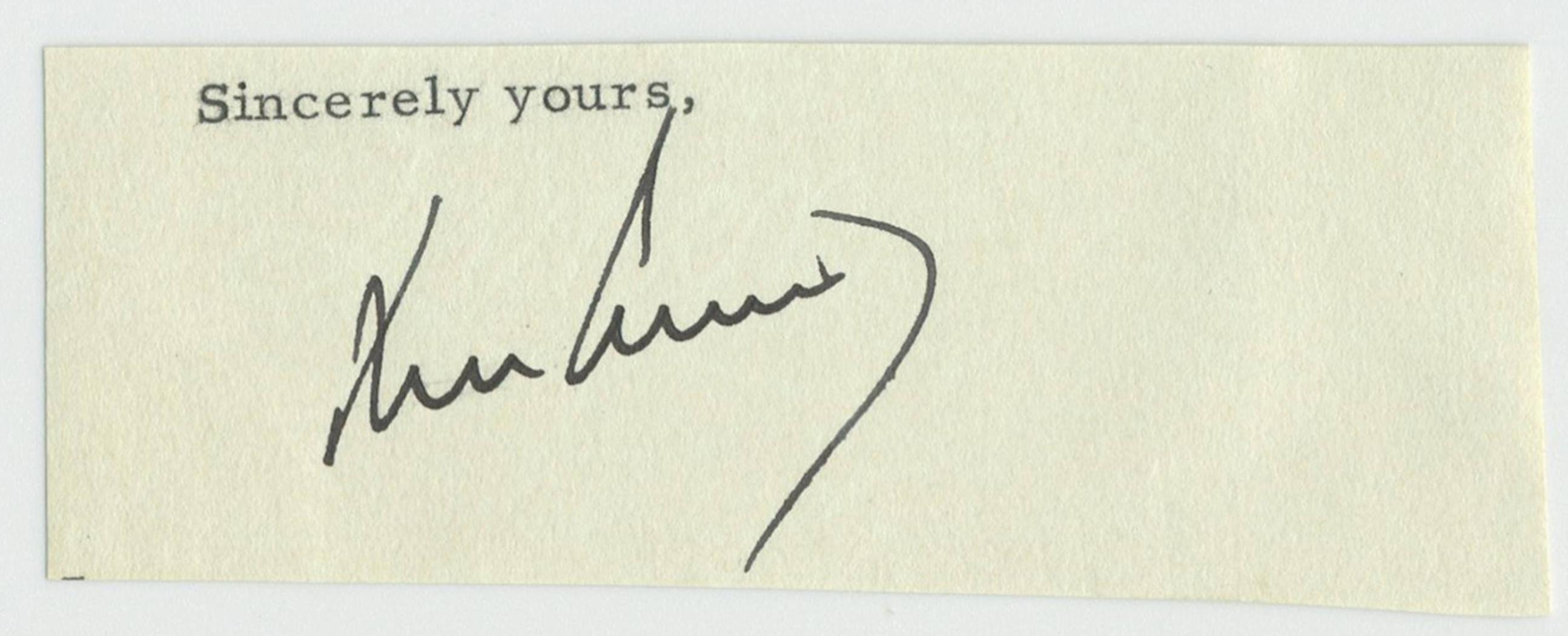 John F. Kennedy Signature as President Absolutely Superb