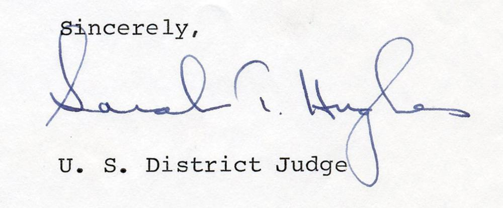 JFK Assassination Aftermath, Judge Sarah T. Hughes: