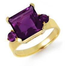 Natural 4.31 ctw Amethyst Ring 10K Yellow Gold - 12680-#23V3A