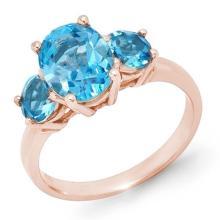 Natural 3.25 ctw Blue Topaz Ring 10K Rose Gold - 13340-#20W2K