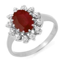 Natural 1.22 ctw Ruby & Diamond Ring 10K White Gold - 12512-#21G5R